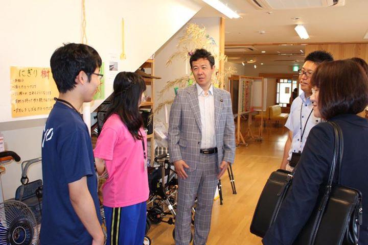 富山市 高校生の職場体験激励