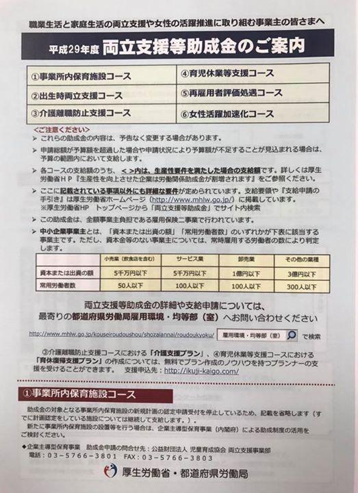 富山市 両立支援等助成金