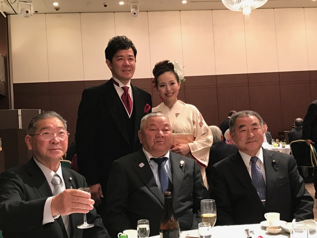 衆議院議員 たばた代議士と内田もも香さんのお披露目会